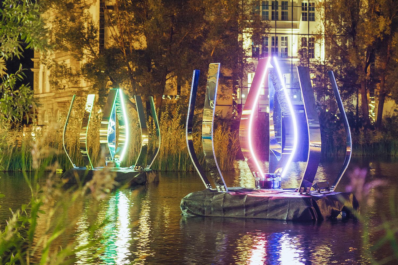 Malte Kebbel - Licht Anemone - Festival of Lights, Potsdamer Platz, 2019_en